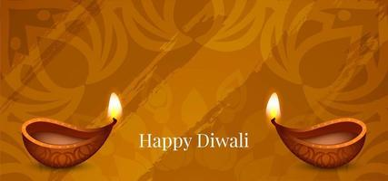 Simple abstract Happy Diwali greeting  vector