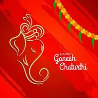 Ganesh Chaturthi bright red abstract background