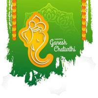 Ganesh Chaturthi grüner Hintergrund
