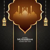 Fundo de Muharran feliz clássico de cor escura