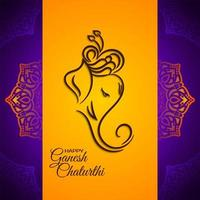 Lord Ganesha feestelijke fel oranje achtergrond
