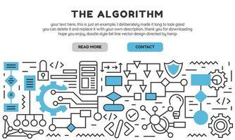Algorithmus flache Linie Landing Page