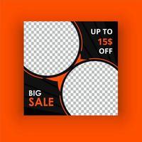 Food big sale social media post template vector