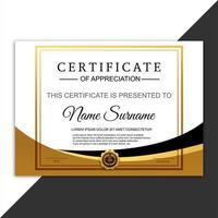 Elegance horizontal certificate with wave