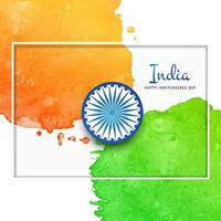 Watercolor indian flag background