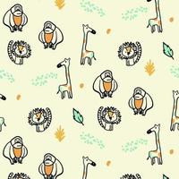 Orange and Yellow animal pattern background vector