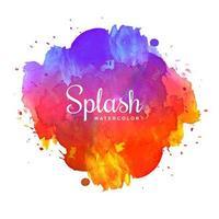 colorful splash watercolor background vector