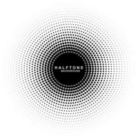 circular halftone background vector