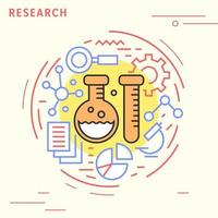 Research flat line design Cricle