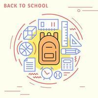 Back to school flat line design