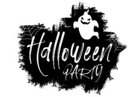 Grunge Halloween background with text and ghost vector