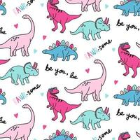 Pink dinosaur pattern background