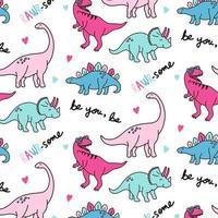 Motif de dinosaure rose