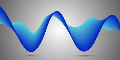 Fondo de onda de flujo azul