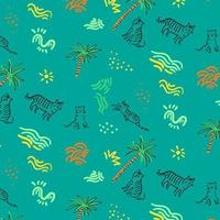 Tropical animal pattern background vector