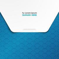 Abstraktes geometrisches blaues Kreismuster auf Umschlag