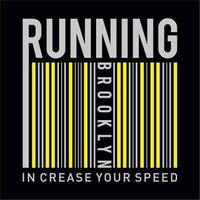 Athletic sport running increase your speed typography