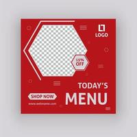 Today's menu social media post template