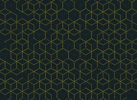 Motif hexagonal abstrait simple et minimal de couleur or