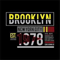 Brooklyn-Typografie für T-Shirt