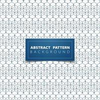 Abstract blue stacked outline hexagon pattern  vector