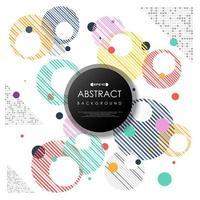 Padrão de círculos listrado moderno abstrato bolhas coloridas