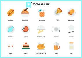 Set of food and cafe icons