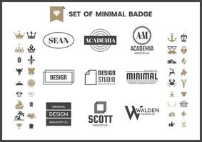 Set van minimale monochrome badges