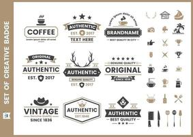 Set of vintage retro badges and elements
