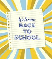 Notebook paper Welcome Back to school poster