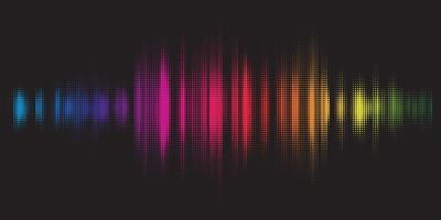Colorful equaliser background  vector
