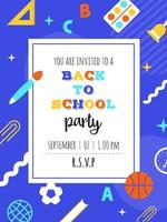 Geometric Back to school party poster