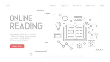 Online reading landing page