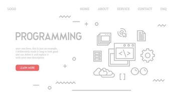 Pagina di destinazione di programmazione
