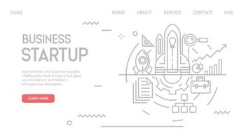 Business startup landing page