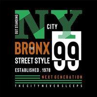 Green NYC  urban t shirt design typography