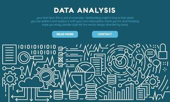 Data analysis flat line landing page