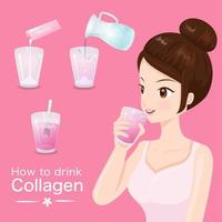 How to drink delicious collagen vector