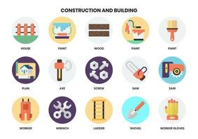 Set of tools and construction icons for business