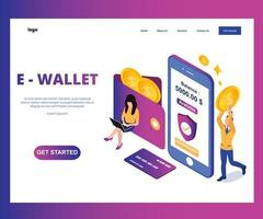 E wallet landing page isometric