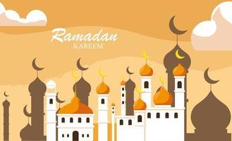Ramadán Kareem mezquita edificio tradicional