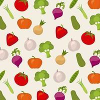 Grönsaker sömlösa mönster