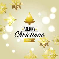 merry christmas card decoration design