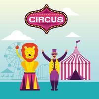 Escena de circo retro