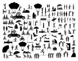 Set of People doing activities icons