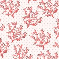 Patrón de coral rosa