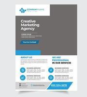 Company Information Template Design vector