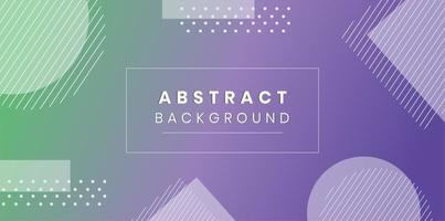 Gradient geometric shapes banner  vector