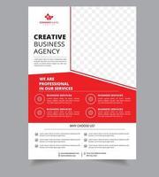 Modello di volantino brochure informazioni aziendali