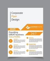 Solutions Corporate Business Flyer vector